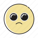 begging, cry, crying, emoji, emoticon, face, sad icon