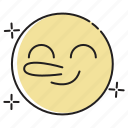 confidence, emoji, emoticon, emotion, expression, face, smiley icon