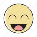 cartoon, character, emoji, emoticon, face, happy, smiley icon