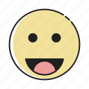emotag, emoticon, emotion, feeling, heart emoji, laugh, smile icon