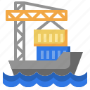 cargo, ship, shipping, delivery, distribution, container, crane