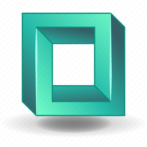 cube, escher, impossible, object, penrose, solid, square icon