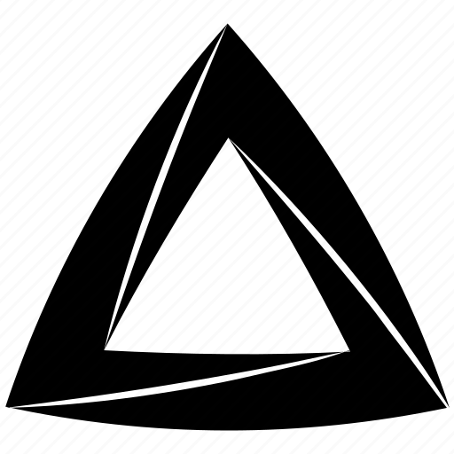 escher, impossible, object, penrose, shape, solid, triangle icon