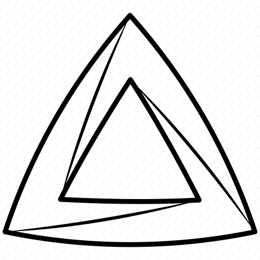 impossible, object, penrose, shape, solid, triangle icon