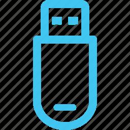 flash drive, memory stick, usb, usb key icon