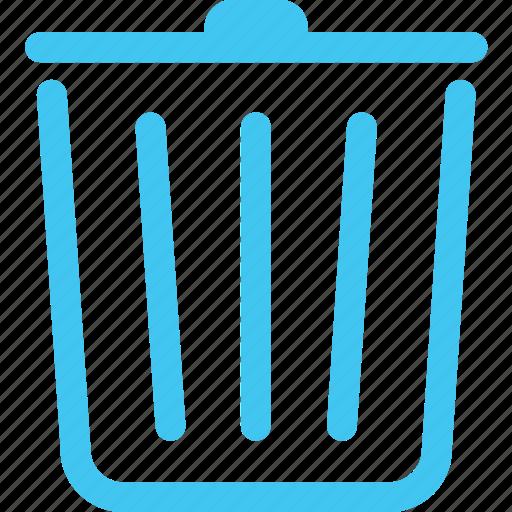 bin, litter bin, trash, trashcan icon