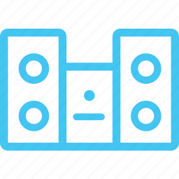 home stereo system, stereo set, stereo system icon