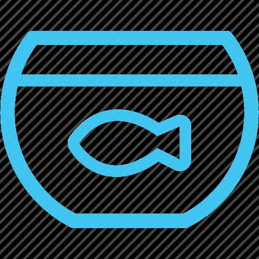 fish bowl, fish tank icon