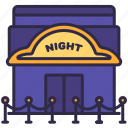 building, night, nightclub, party, structure icon