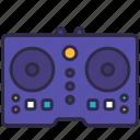 controller, dance, dj, edm, nightclub, party, song icon