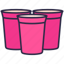 celebrate, cup, drinks, glass, nightclub, party, red icon