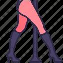dance, heels, high, leg, nightclub, show, woman icon