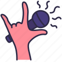 hand, microphone, nightclub, party, sing, song icon