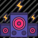 audio, dance, music, nightclub, party, sound, speaker icon