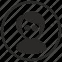 avatar, face, incognito, man, user icon