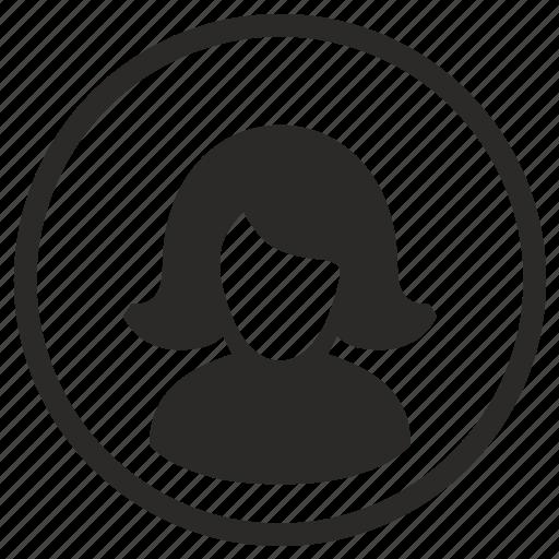 avatar, body, face, head, incognito, lady icon