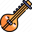 sitar, music, instrument, song, play