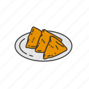 baked, dish, food, fried, indian cuisine, indian food, samosa icon