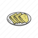 bake dish, baked, dish, food, fried, indian food, samosa icon