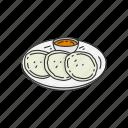 breakfast, dip, dish, food, idli, indian dish icon