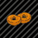 dip, doughnut, food, fritter, indian dish, indian fritter, medu cada icon