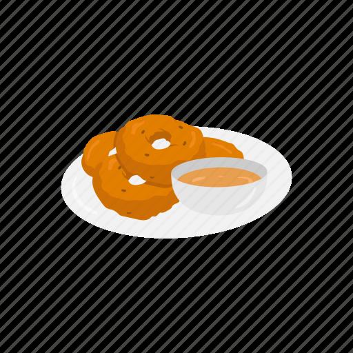 dip, doughnut, food, fritter, indian food, indian fritter, medu vada icon