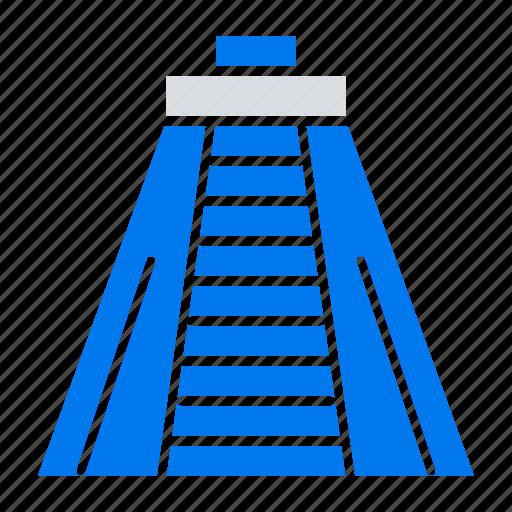 chichen, itza, landmark, monument icon