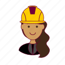 emprego, engenheira, engineer, indian woman professions, job, mulher, professions, ruiva, trabalho, work icon