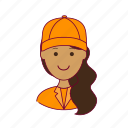 .svg, emprego, gari, indian woman professions, job, mulher, professions, street-sweeper, trabalho, work icon