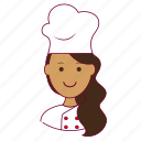 chef, chefe de cozinha, emprego, indian woman professions, job, mulher, professions, trabalho, work icon