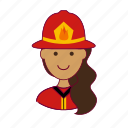 bombeira, emprego, fire, firefighter, fogo, indian woman professions, job, mulher, professions, trabalho, work icon