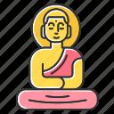 buddha, culture, golden, indonesia, religion, statue, tradition