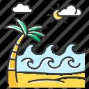 beach, exotic, palm, paradise, seaside, summer, wave