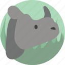 animals, rhino, wild icon