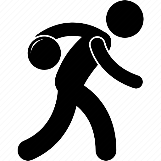 action, ball, bending, bowling, man, person, ready icon
