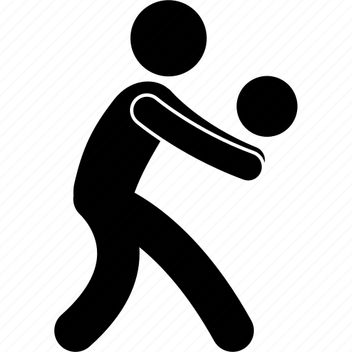 Action, ball, hit, person, player, ready, volleyball icon - Download on Iconfinder