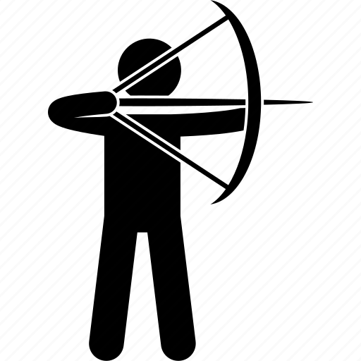 Aiming, archer, archery, arrow, bow, man, person icon - Download on Iconfinder