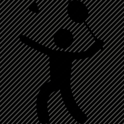 action, badminton, player, racket, racquet, shuttle cock, swing icon