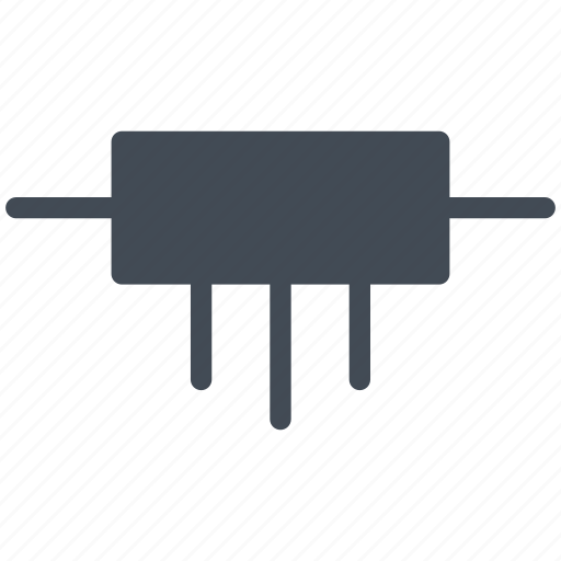 circuit, diagram, electric, electronic, inductance, inductor, power points icon