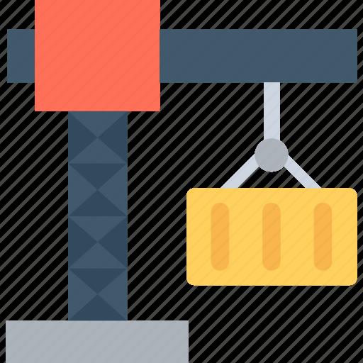 cargo, container, container crane, crawler crane, shipping container icon