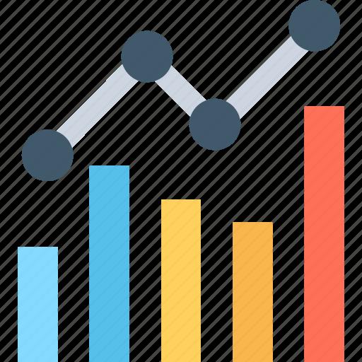 analytics, bar chart, growth, line graph, statistics icon