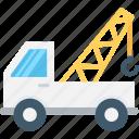 crane, crane truck, industrial, mobile crane, tow truck icon