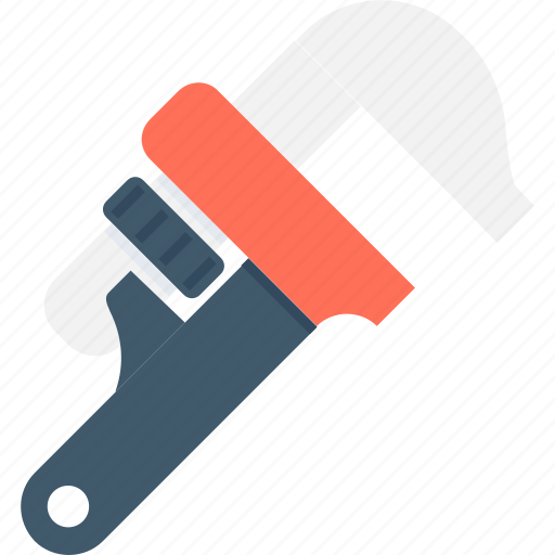 garage tool, pipe grips, pipe wrench, repair tool, stillson wrench icon