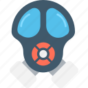danger, gas mask, respirator mask, safety mask, toxic icon