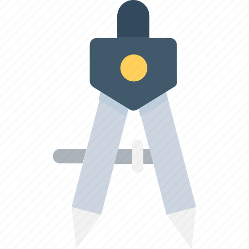compass, divider, drafting, drawing, geometry tool icon