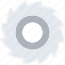 circular saw, cutting tool, maintenance, repair, saw blade icon