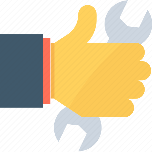 hand, maintenance, repair service, services, spanner icon