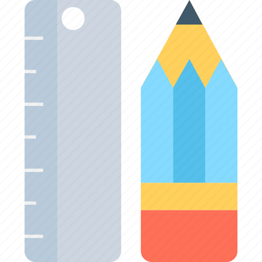 drawing, geometry tools, pencil, ruler, stationery icon