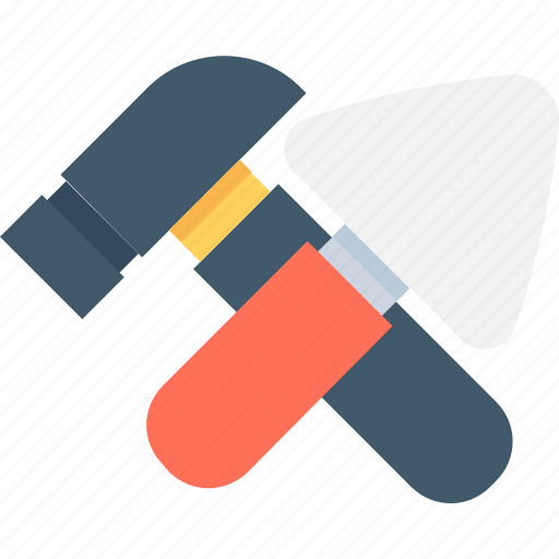 hammer, repair tools, spade, tools, work tools icon