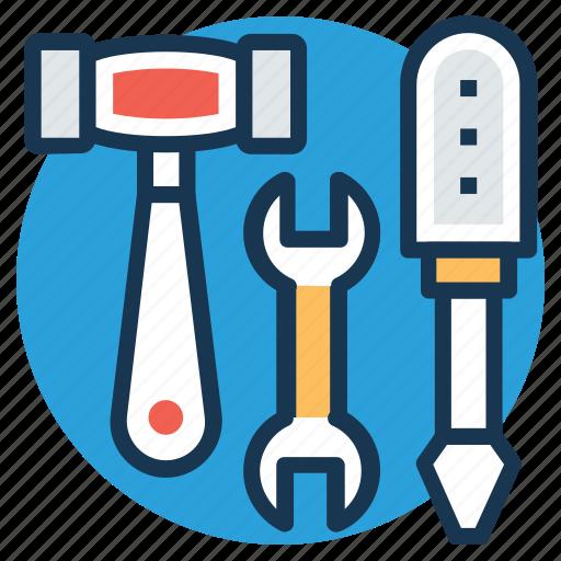 garage tools, hand tools, repair, settings, workshop icon